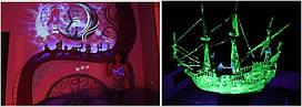 ЗЕЛЕНЫЙ в темноте и ФИОЛЕТОВЫЙ на свету Люминофор СВЕТЯЩИЙСЯ порошок люминесцент ТМ Просто и Легко 10 u