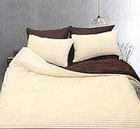 Универсальный комплект постельного белья с плюшем  зима-лето Бежевый