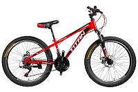 """TitanBike Велосипед Titan Focus 26""""12"""" Красный-Черный-Белый"""