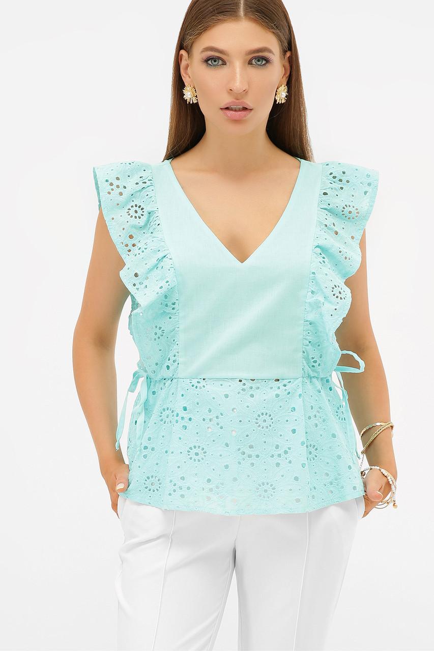 Нежная  блуза с перфорацией Илари