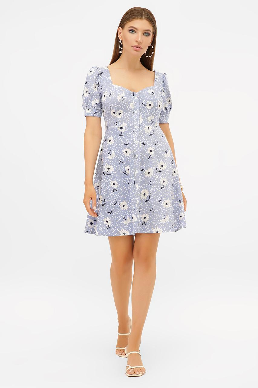 Романтичное летнее платье на пуговицах Прасковья