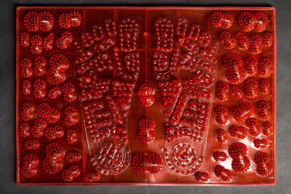 Килимок масажний для стоп JOY червоний MS-1300-4