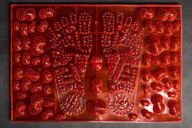 Килимок масажний для стоп JOY червоний MS-1300-4, фото 2