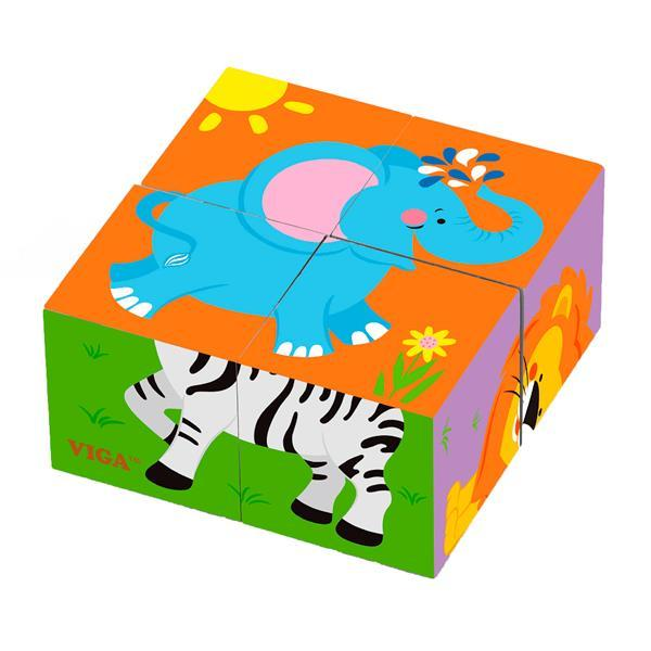 Пазл-кубики Viga Toys Зверята (50836)