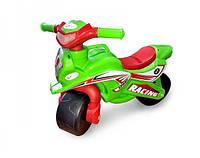 Детский байк беговел толокар 2 колеса для детей в виде мотоцикла для толкания ногами DOLONI TOYSЗеленый