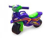 Детский байк беговел толокар 2 колеса для детей в виде мотоцикла для толкания ногами DOLONI TOYSФиолетовый