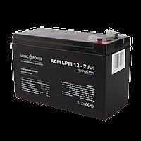 Акумулятор кислотний AGM LogicPower LPM 12 - 7,0 AH, фото 1