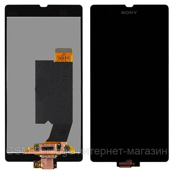 Дисплей Sony LT36i / C6602 / C6603 / C6606 Xperia Z complete Black Copy