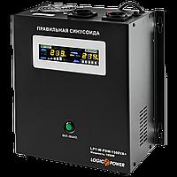 ДБЖ з правильною синусоїда LogicPower LPY-W-PSW-1500VA+ (1050W) 10A/15A 24V для котлів і аварійного освітлення, фото 1