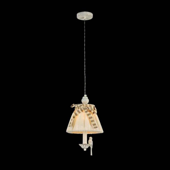 Люстра подвес bird на одну лампочку абажур Itlamp 32225/1p