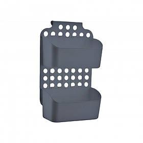 Навесной органайзер на дверку кухни/ванной серый Dunya 09167