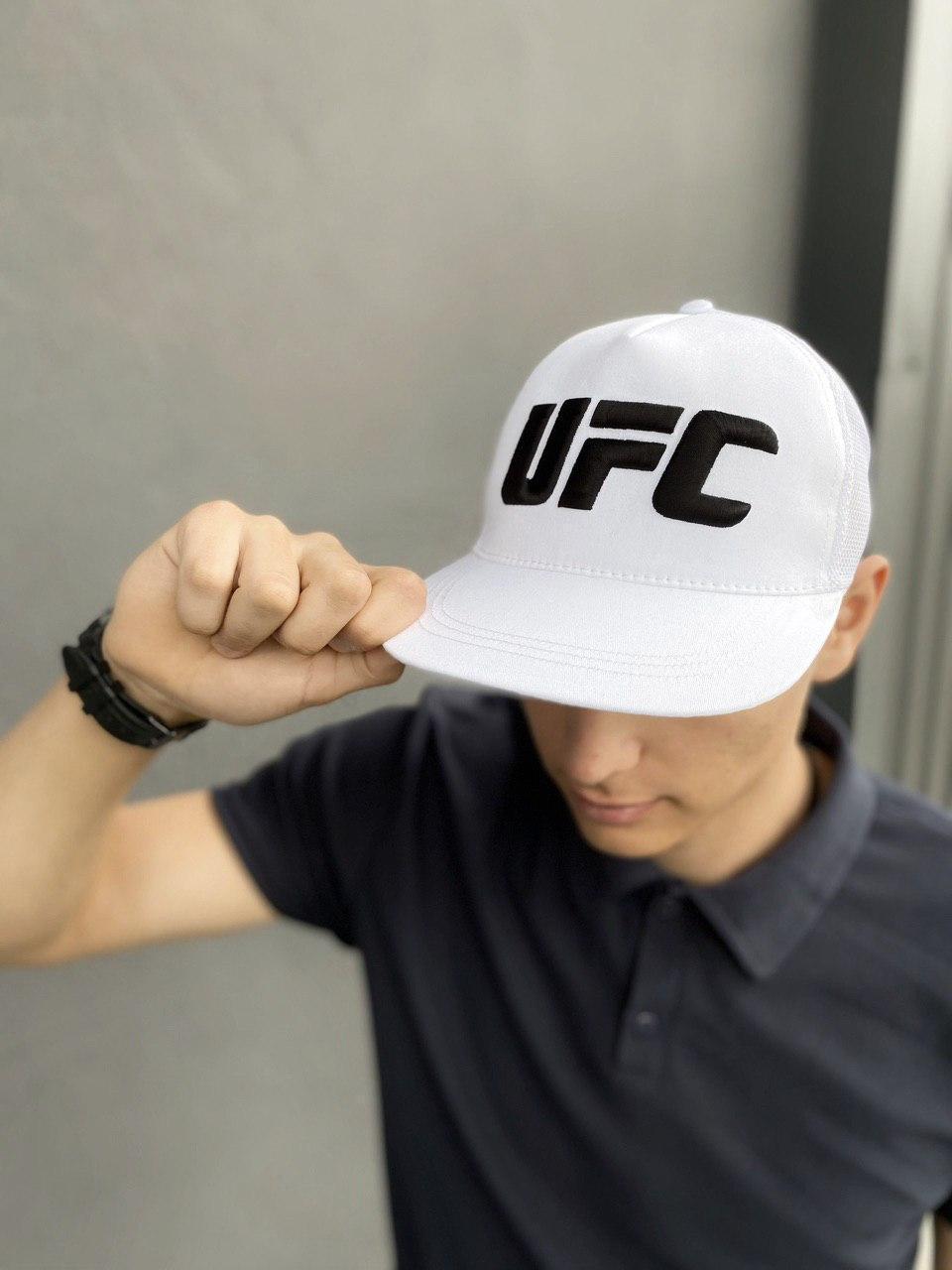 Кепка UFC Reebok мужская | женская рибок белая big black logo