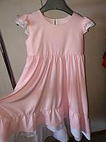 Платье для девочки розовое свободное, фото 1