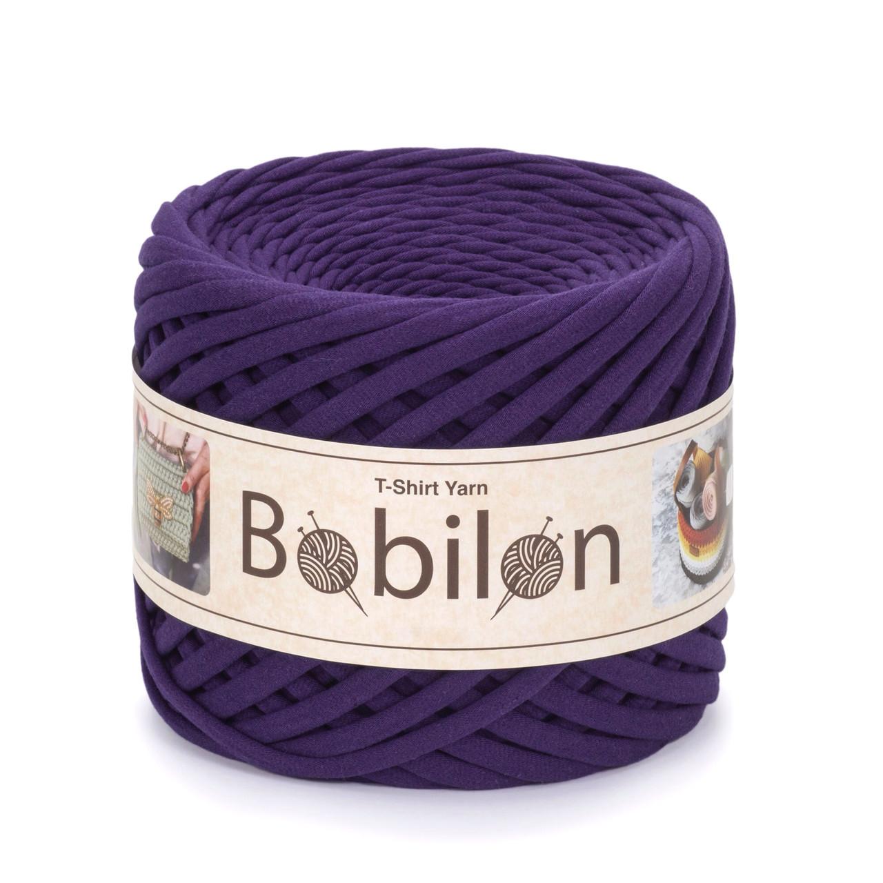 Пряжа трикотажна Bobilon Mini (5-7 мм) Violet Фіолетовий колір