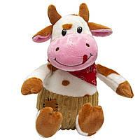 Мягкая игрушка - бык в штанишках, 23 см, рыжий, плюш (394967)