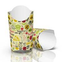 """Упаковка для картоплі фрі """"Максі"""" (265г), 90*25*145, принт 1"""