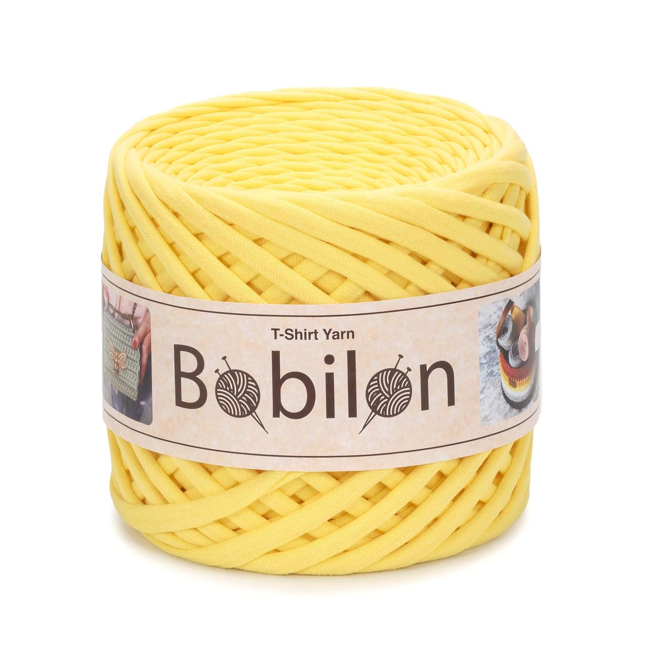 Пряжа типа спагетти Bobilon Medium (7-9 мм) Yellow Желтый