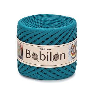 Трикотажная пряжа Bobilon Medium (7-9 мм) Deep Ocean Морская Волна