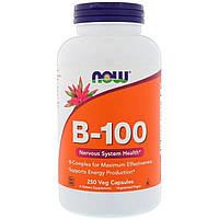 B-Комплекс 100, B-100, Now Foods, 250 вегетарианских капсул
