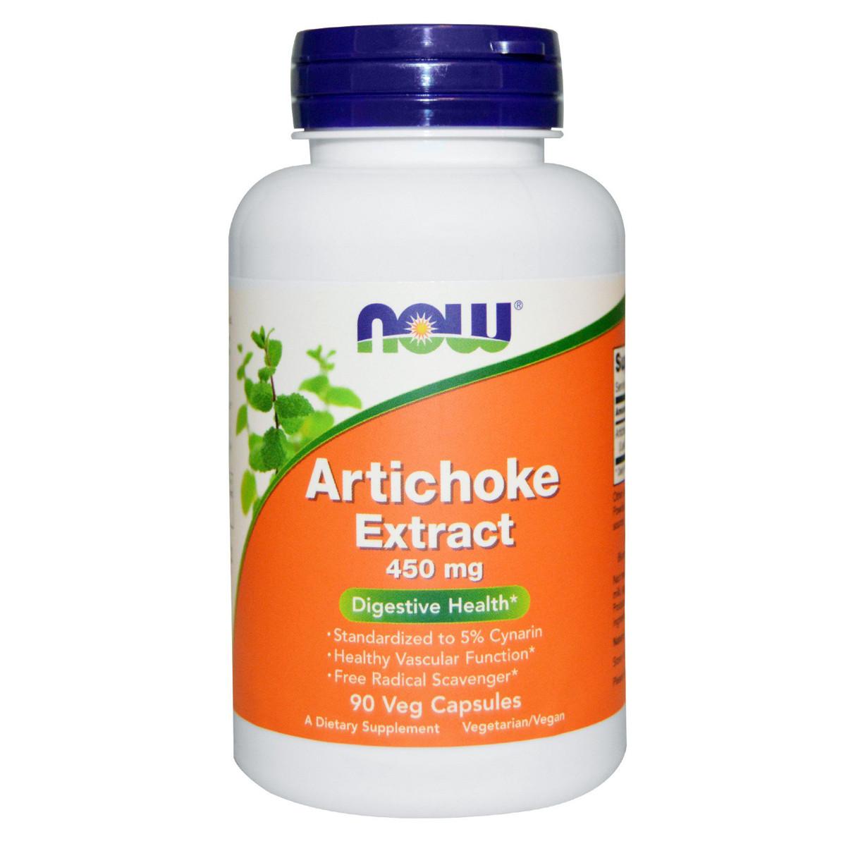 Экстракт Артишока, 450 мг, Now Foods, 90 гелевых капсул