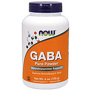 GABA (Гамма-Аминомасляная Кислота), Now Foods, Порошок, 170 гр