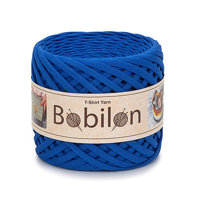 Трикотажная пряжа Бобилон Micro (3-5 мм) Ultramarine Синий электрик