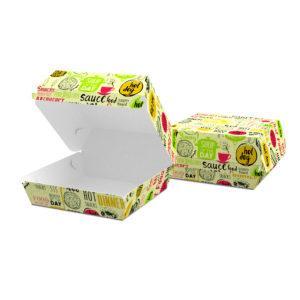 """Упаковка для бургера """"Міді"""" 115*115*64, світла"""