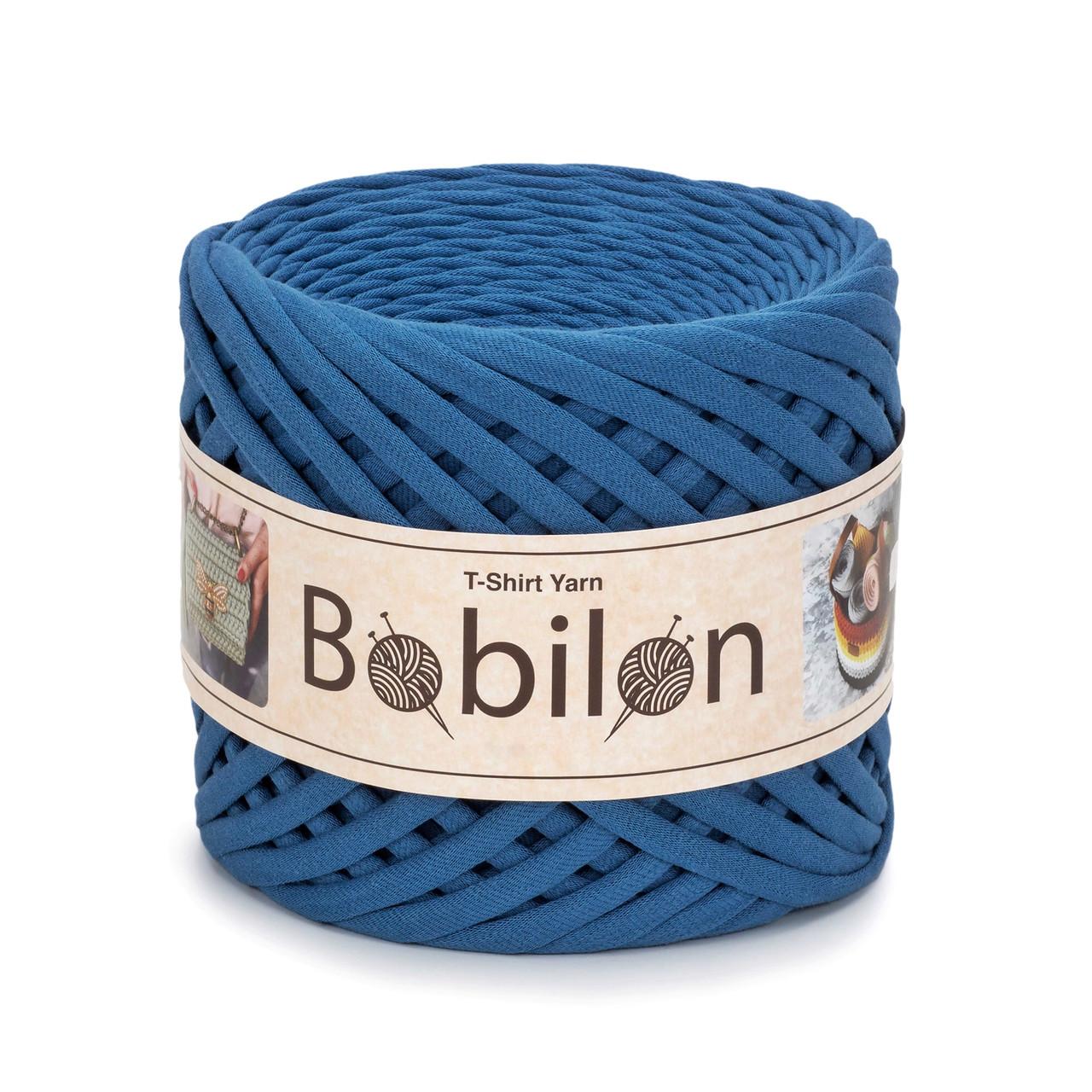 Трикотажная пряжа Bobilon Medium (7-9 мм) Blue Jeans Индиго