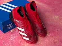 Сороконожки Adidas Predator 20.3/ многошиповки адидас предатор с носком/футбольная обувь, фото 2