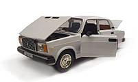Модель ВАЗ 2107 Автопром, белая, фото 4