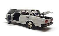 Модель ВАЗ 2107 Автопром, белая, фото 5