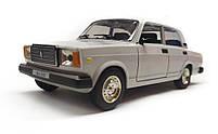 Модель ВАЗ 2107 Автопром, белая, фото 2