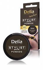 Помада для бровей Delia Cosmetics STYLIST BROW POMADE с кисточкой 4 мл