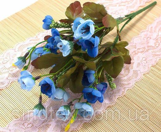 Искусственный букет весенника, 30см, Голубой (сп7нг-2853), фото 2