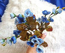 Искусственный букет весенника, 30см, Голубой (сп7нг-2853), фото 3