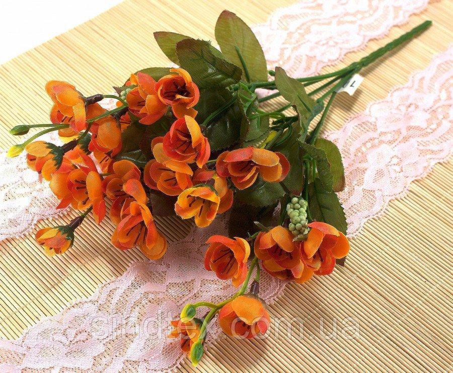 Искусственный букет весенника, 30см, Оранжевый (сп7нг-2855)