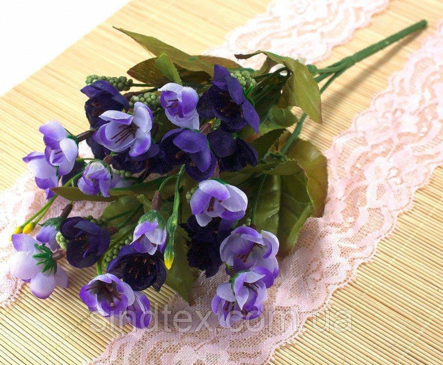 Искусственный букет весенника, 30см, Сиренево-фиолетовый (сп7нг-2856)