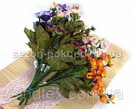 Искусственный букет весенника, 30см, Сиренево-фиолетовый (сп7нг-2856), фото 2