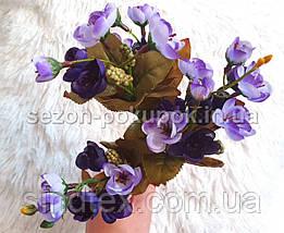 Искусственный букет весенника, 30см, Сиренево-фиолетовый (сп7нг-2856), фото 3