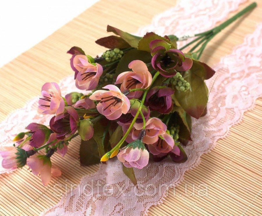 Искусственный букет весенника, 30см, Цвет - на фото (сп7нг-2858)