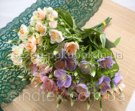 Букет весенника, 30см, цветы для декора, Розовый (сп7нг-2531), фото 2