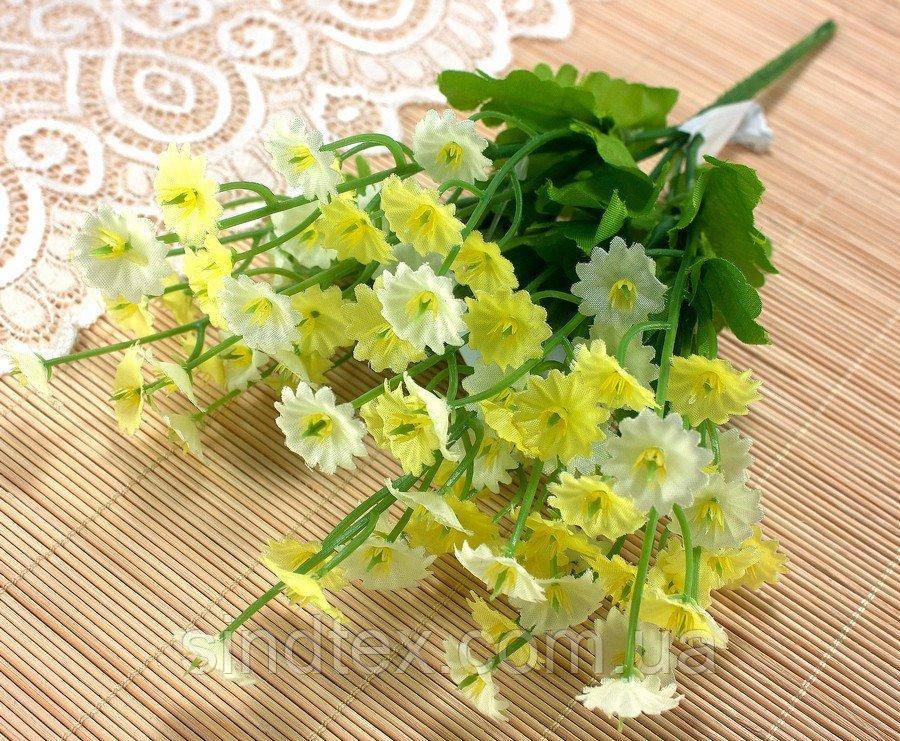Букет Камелона, 25см, Искусственные цветы, Светло-жёлтый (сп7нг-2550)
