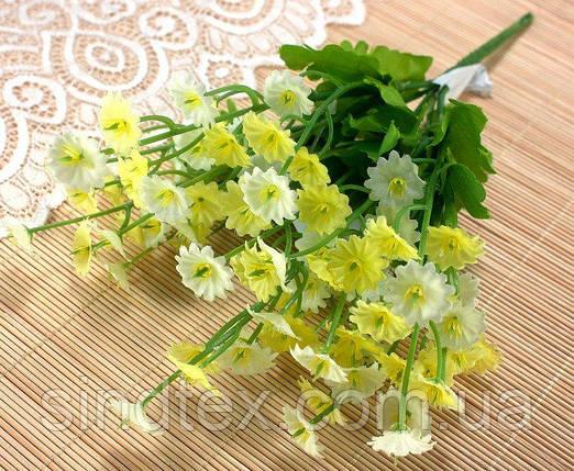 Букет Камелона, 25см, Искусственные цветы, Светло-жёлтый (сп7нг-2550), фото 2