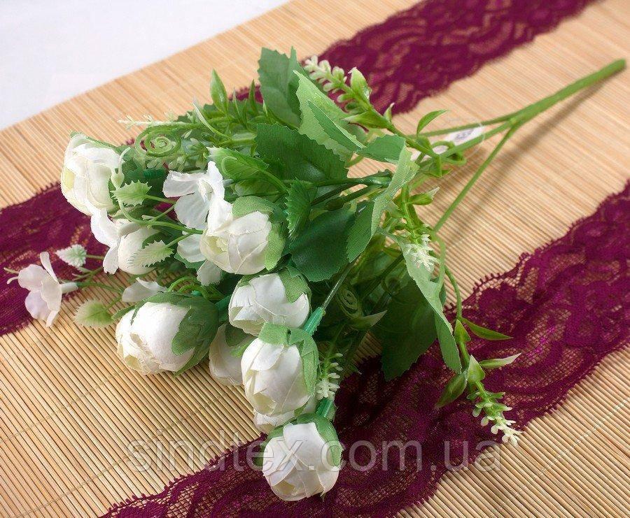 Букет ранункулюса, 27см, букет из искусственных цветов, Белый (сп7нг-2939)