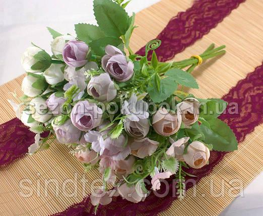 Букет ранункулюса, 27см, букет из искусственных цветов, Белый (сп7нг-2939), фото 2