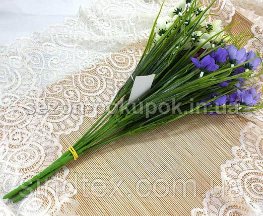 Букет колокольчиков, 38см, букет для интерьера, Фиолетовый (сп7нг-2735), фото 2