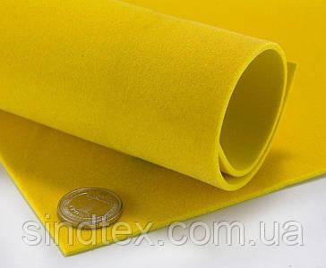 Фоаміран вельветовий, 2 мм товщина, A4, Жовтий (сп7нг-0338)