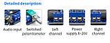 DIY Підсилювач потужності 2*50 Вт TPA3116D2 плата +вимірювач рівня + Bluetooth 5,0 модуль, набір зроби сам., фото 5
