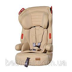 Детское автокресло бежевое с направляющими ремня CARRELLO Premier CRL-9801/2 Beige Lion от 1 года до 12 лет