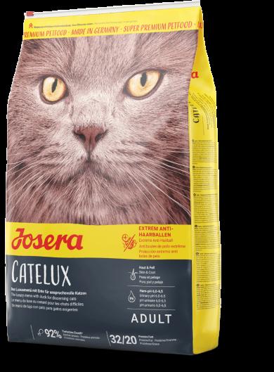 Josera Catelux 10кг - сухой корм для кошек с шерстевыводящим эффектом утка и картофель Кателюкс